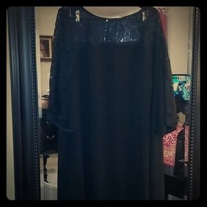 Lane Bryant Black and lace cocktail dress